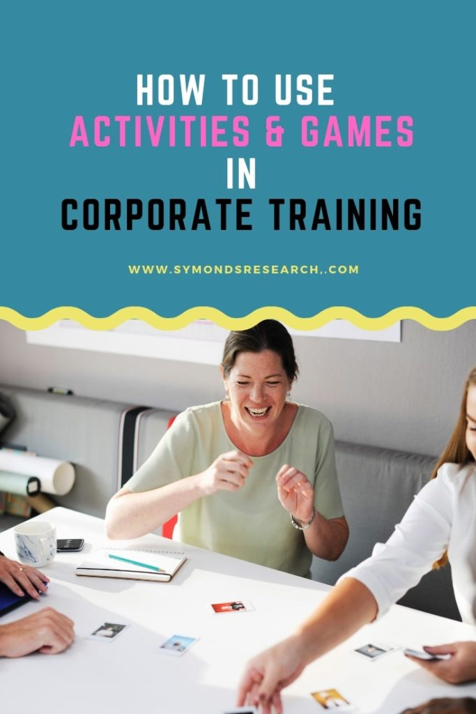 Games and activities for corporate training
