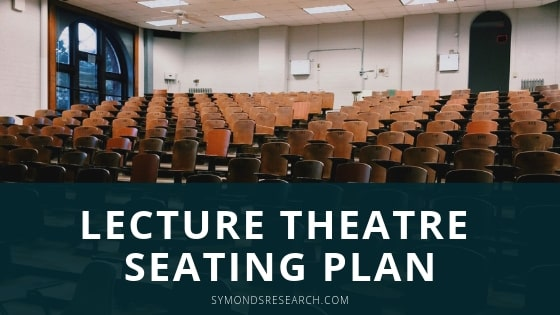 Example of a lecture theater seating plan