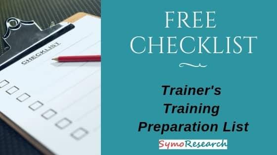 Free Trainer's traning day checklist