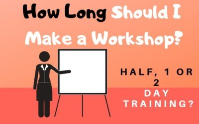 Workshop Structure – Should I do a Half, Full or 2 Day Training Session?