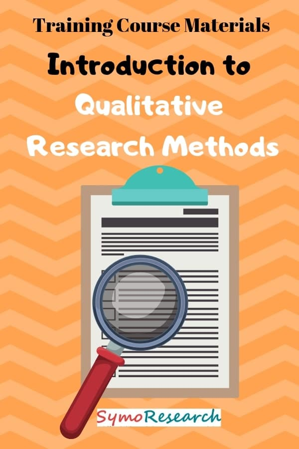 Traing package for rainers to teach an introduction to qualitative research methods.