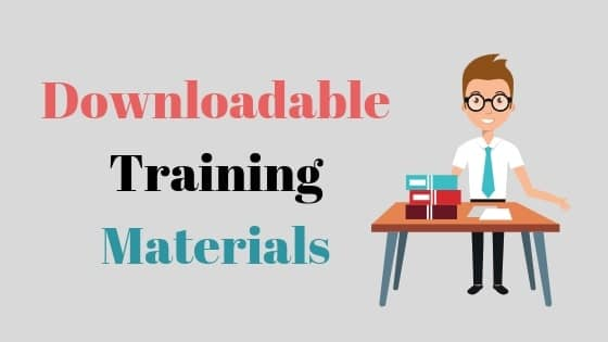 Downloadable training materials