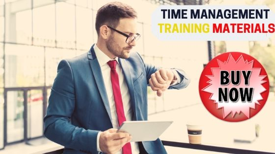 Customizable Time management training package kit to download.