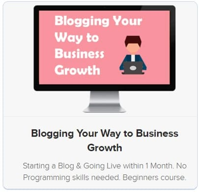 Blog Your Way to Business Growth course