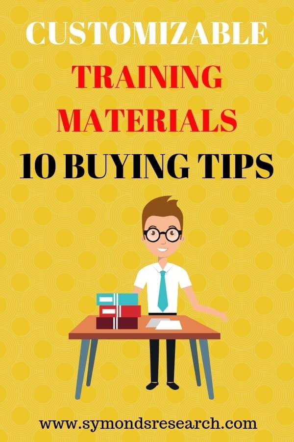Buying customizable training materials