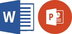 Files types commonly used for training materials packages ie. with PowerPoint and MS Word.