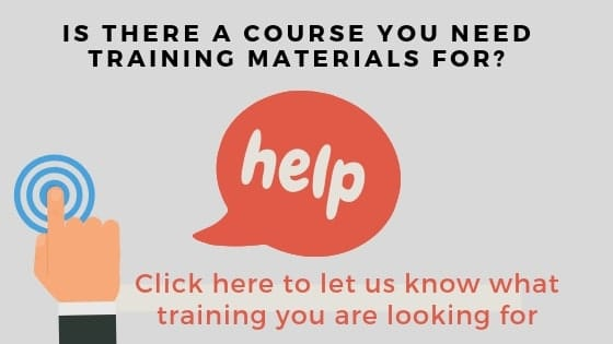 Any training courses you need designed
