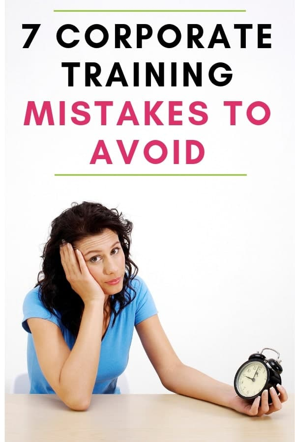 Mistakes to avoid as a corporate trainer
