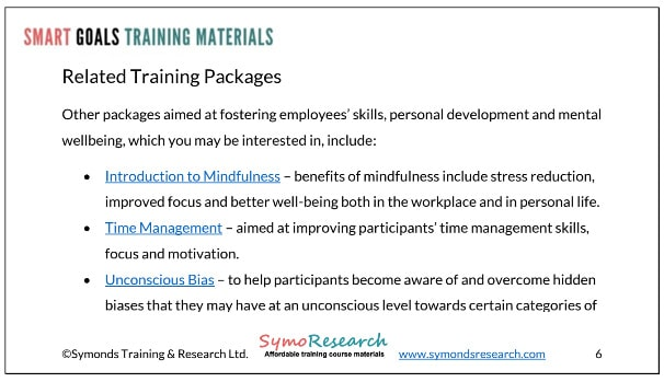 Bundles of related course training materials for trainers