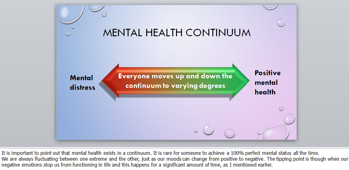 Mental health awareness customizable training materials PowerPoint