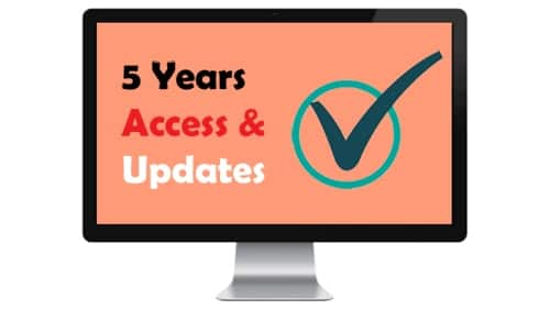 5 years access for the SEO course
