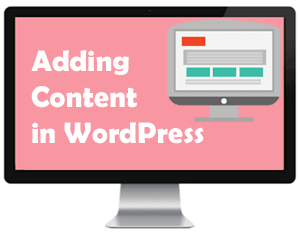 Adding content in WordPress lessons online
