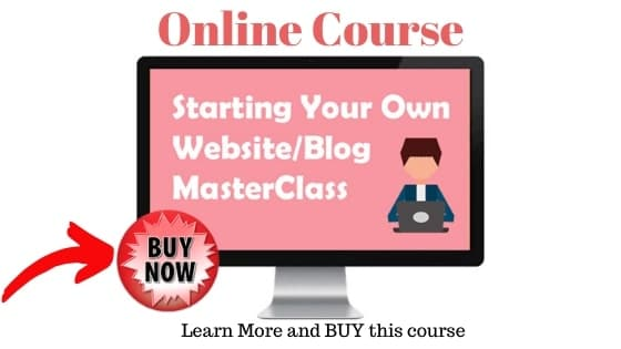 Start your own website online course