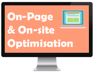 On-page and on-site optimization