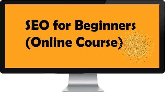 Online SEO course