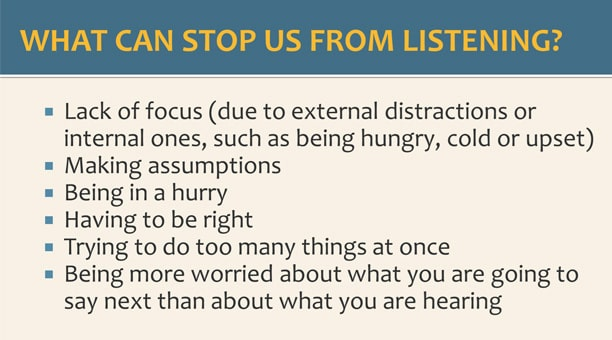 Active listening customizable training materials PowerPoint