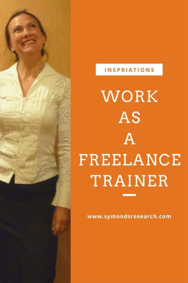 Work as a freelance trainer