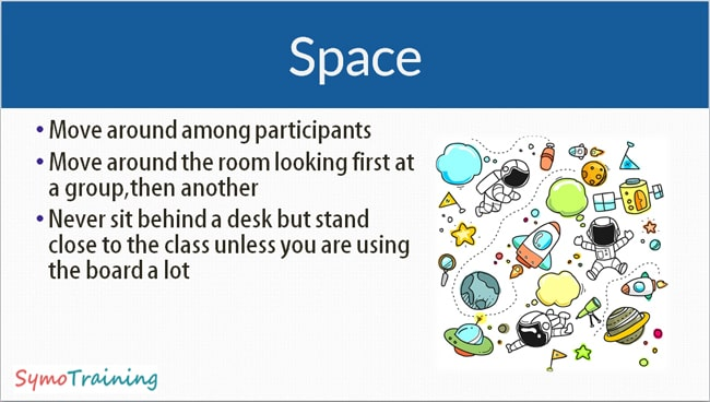 Using space in a classroom or workshop
