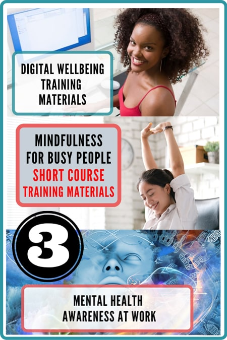 Employee wellness programs. Package of three workplace wellness training course materials.