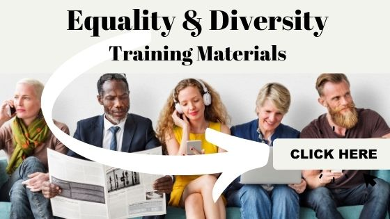 Equality and diversity training teaching course materials banner