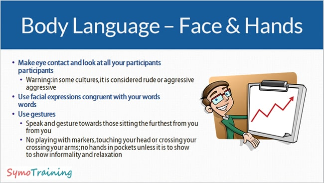 Body language for teachers and using your face and hands