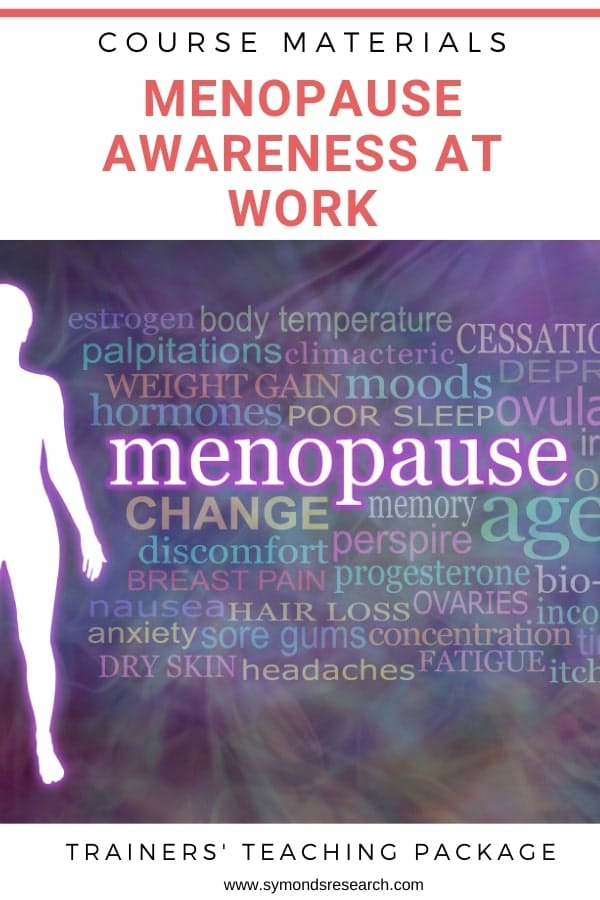 Menopause awareness at work training course materials