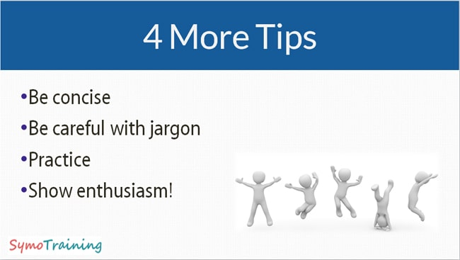 More presentation skills tips.