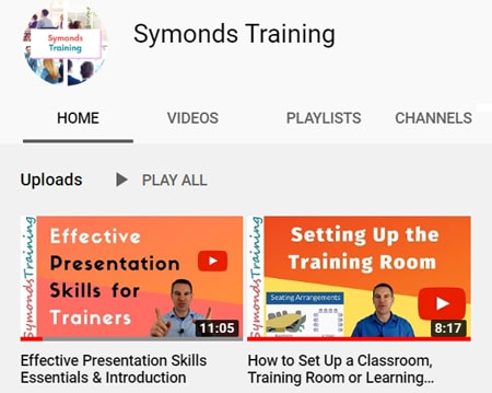 Using YouTube as a teacher and trainer