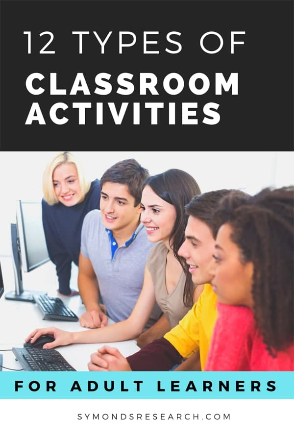 Types of classroom activities and how they differ