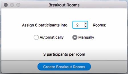 Allocating students to breakout rooms in Zoom