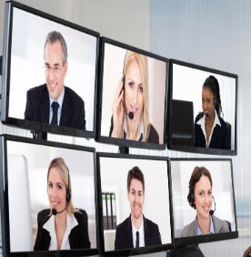 Online teaching with video conferencing