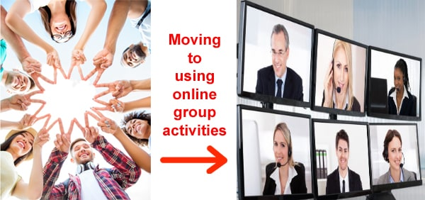 Moving to virtual team building activities