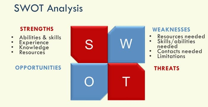 SWOT weaknesses