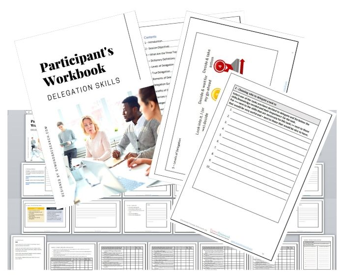 Students handbook in the training materials packages