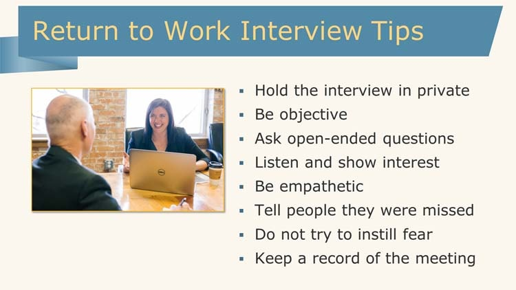 Return to work interview tips