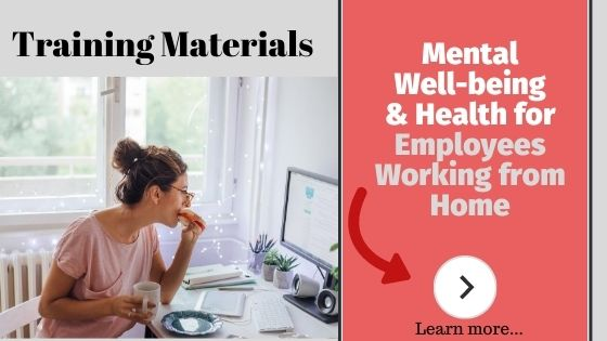 Working from home employee wellness and well-being course