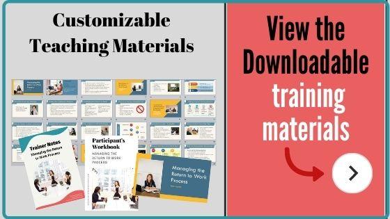 Customizable training course materials