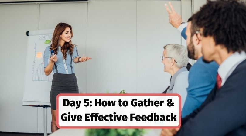 How to gather and give effective feedback for corporate training sessions