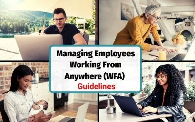 10 Tips & Guidelines for Managing Staff Working from Home (WFH) or Remotely WFA (Working From Anywhere)