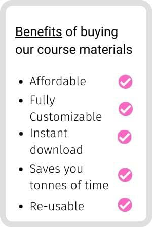 Benefits of the training materials for teaching