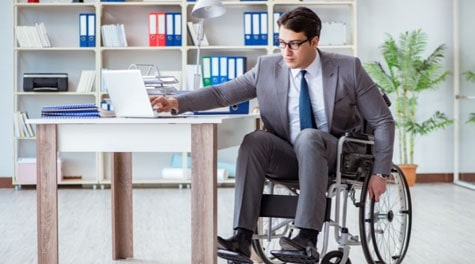Wheelchair user and workplace inclusion