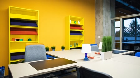Office color design for better workplace wellness