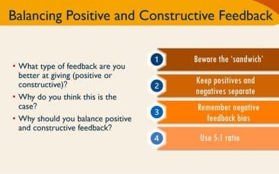 Balancing Positive and Constructive Feedback Training Activity