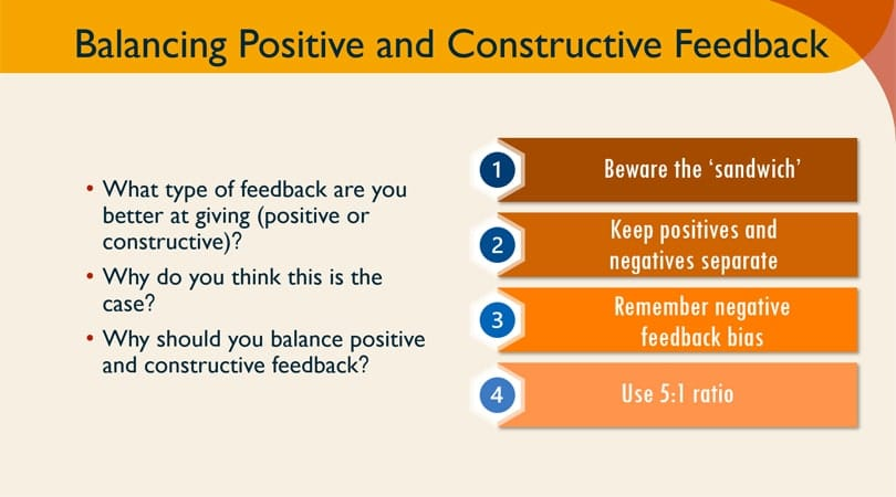 Giving constructive feedback at work